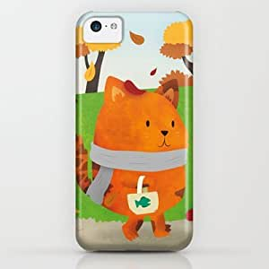 Society6 - A Lovely Walk To The Shops In Autumn iPhone & iPod Case by Claire Stamper