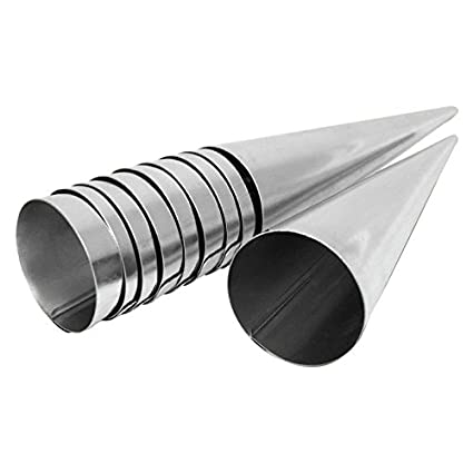 Para hacer barquillos para molde de 10er Set de ollas de acero inoxidable (140 mm