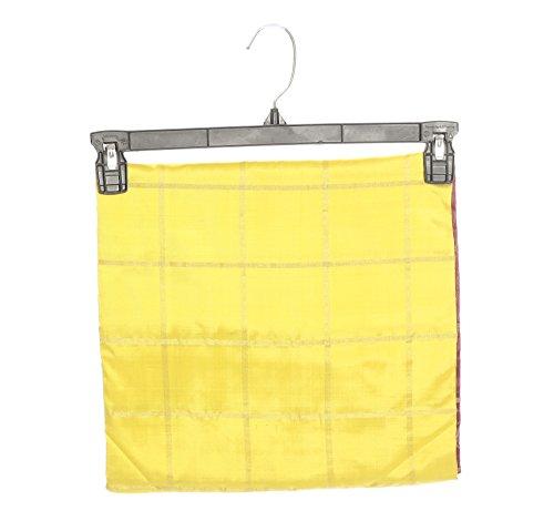Mandakini — Indian Women's Pochampally - Handloom - Ikat Pure Silk Saree (Yellow ) (MK315) by Mandakini (Image #5)