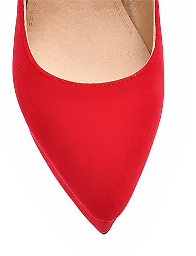 GGX/Damen Schuhe Stiletto Heel Spitz Zulaufender Zehenbereich Schleife Plattform Pumpe mehr Farbe erhältlich red-us5.5 / eu36 / uk3.5 / cn35