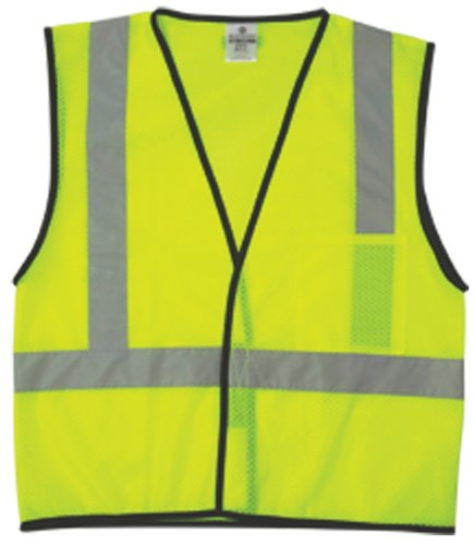 ML Kishigo 1193 Economy Series Ultra Cool Mesh 1 Pocket Vest, Fits Small and Medium, Lime ()