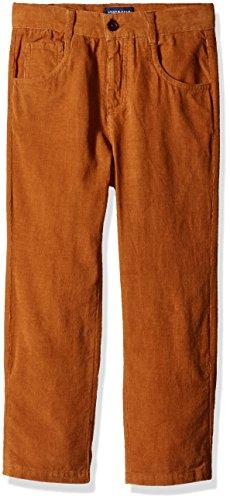 Corduroy Pants Boys (Andy & Evan Little Boys' Toddler Slim Cut Corduroy Pant with Adjustable Waist, Cognac, 3T)