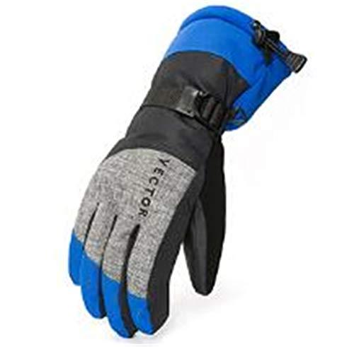 Women Men Ski Gloves Snowboard Snowmobile Motorcycle Riding Winter Windproof Waterproof Unisex Snow Gloves Blue Men XL