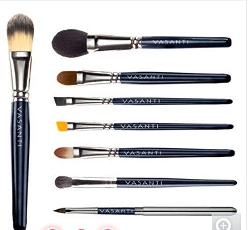 Vasanti Professional Foundation Brush with 7 Piece Pro-on-the-Go Bonus Brushes