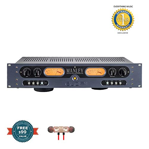 Manley Labs ELOP+ Electro-Optical Vacuum Tube Limiter/Compressor includes Free Wireless Earbuds - Stereo Bluetooth In-ear and 1 Year Everything Music Extended Warranty