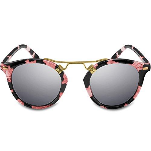 Price comparison product image Goliath Ronin Round Sunglasses for Women - 100% UV Protection,Vintage Fashion Metal Bridge Design, Retro Circle Eyeglasses for Women