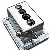 EWT 4-in-1 Desk Table Quad Cigar Cutter Surgical Blade V & Straight 52~60 Ring Gauge + TarSTOP Filter