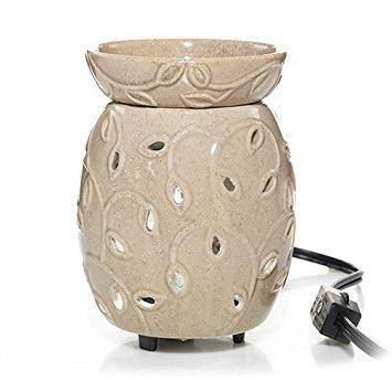 Yankee Candle Everyda y hoja recorte de cerámica W/Bombilla Led calentador de cera aromática