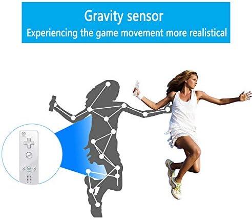 Lactivx - Mando a distancia para Wii, 2 paquetes de control de gestos inalámbrico con funda de silicona y correa de muñeca para consola Wii Wii U (rosa y azul) 6