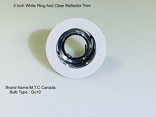 M.T.C Canada 3-inch for Both Line/Low Voltage Trim Recessed Light with Adjustable Open Reflector,with Clear Reflector and White Ring Pack of 24 Pcs= $60.92, 1 Pcs- $2.53 for Sale ()