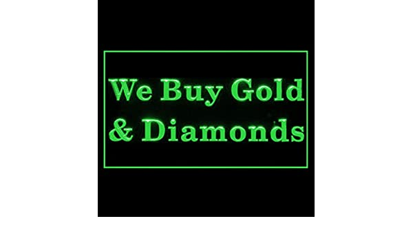 190210 We Buy Gold and Diamonds Sparkle Shine Wedding Commercial LED Light Sign