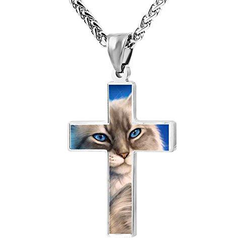 (Cool Patriotic Cross The Ragdolls Cat Religious Lord's Zinc Jewelry Pendant)