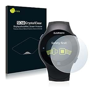 Savvies SC50 Protector de pantalla compatible para Garmin Forerunner 610
