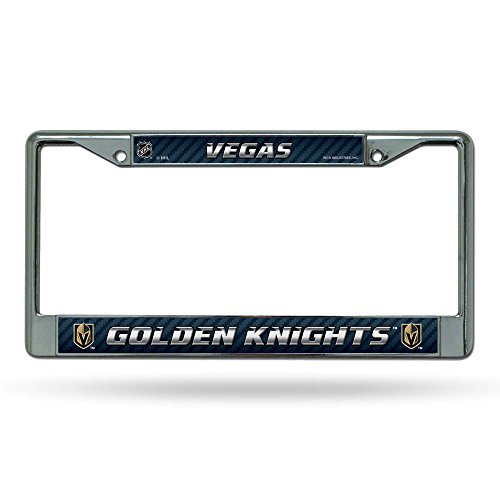 Champions Plate License Frame Metal (Rico Las Vegas Golden Knights NHL Chrome Metal License Plate Frame)