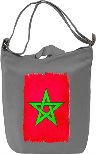 Morocco Flag Borsa Giornaliera Canvas Canvas Day Bag| 100% Premium Cotton Canvas| DTG Printing|