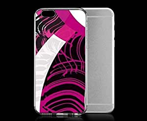 Light weight with strong PC plastic case for iPhone 4 4s Art Abstract Art Pink And White Hipster