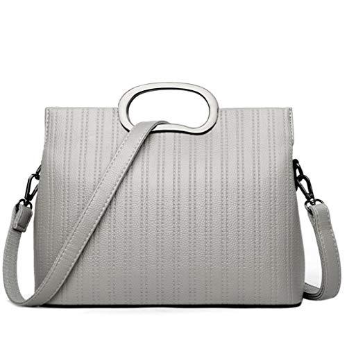 Messenger Tamaño Gray De Bag Para color Hombro Rxf Suave Cuero S Bolso Banquete Mujer Negro aqCw8fx7