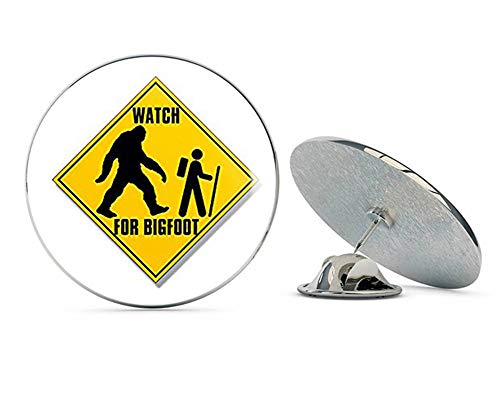 "NYC Jewelers Watch for Bigfoot with Hiker Logo (Funny Hiking Sasquatch) Metal 0.75"" Lapel Hat Pin Tie Tack Pinback from NYC Jewelers"