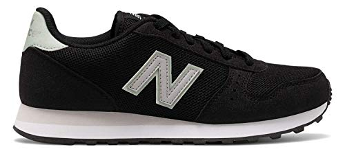 New Balance Women's 311v1 Sneaker, BLACK/MINT CREAM, 10 W US