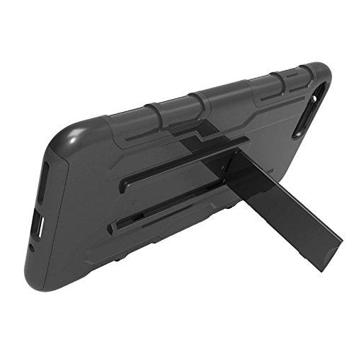 Garyesh 3-en-1 de Cuerpo Entero Robusto Choque de Reducción de Teléfono Celular Caso de Shell para el iPhone (Negro, iPhone7 Plus)