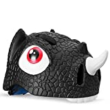 Heemtle Child Bike Helmets PC + EPS Cartoon Dinosaur Cycling Riding Skating Children's Helmets Breathable Safety Bicycle Helmet 4 Colors Optional (Adjustable:52-57cm)