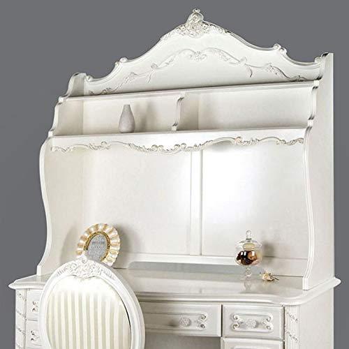 Furniture of America CM7226HC Alexandra Pearl White Hutch Miscellaneous-Home Office Desk by Furniture of America