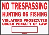 Hy-Ko SS-5 10'' x 14'' Aluminum No Trespassing Sign
