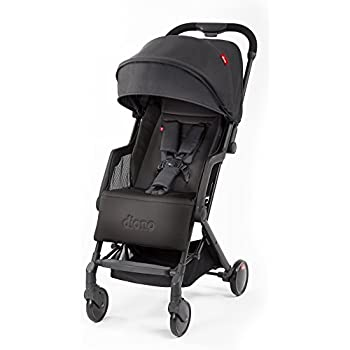 Diono Traverze Lightweight Stroller Plus, Super Compact Travel Stroller for Children from Birth to 45 pounds, Black