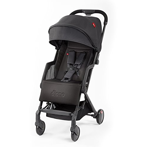 Diono Stroller Lock - Diono Traverze, Luggage-Style Super-Compact Stroller, Up to 45 lbs, Black