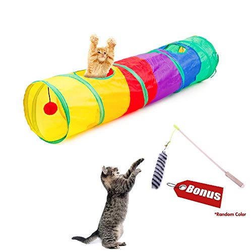 SweetMax Pet Cat Tunnel, Rainbow Cat - Tunnel Rainbow