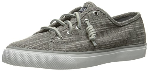 Sperry Top-Sider Women's Seacoast Sparkle Fashion Sneaker, Silver, 5.5 M US