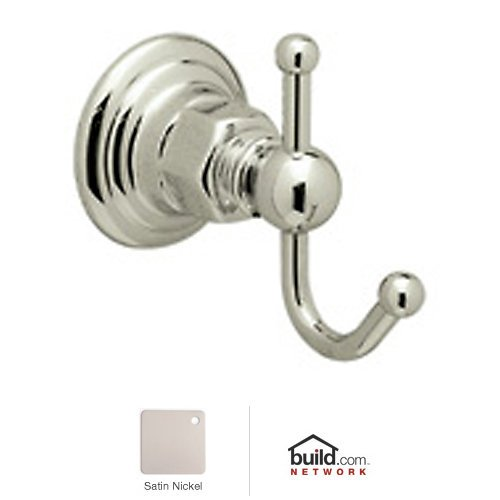 Rohl ROT7STN Country Bath Single Robe Hook in Satin Nickel by Rohl
