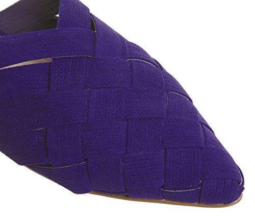 Fluttering Woven Point Mules Office Purple qRvSwAqWd