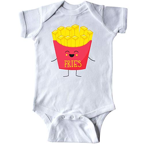 inktastic - French Fries Costume Infant Creeper Newborn White -