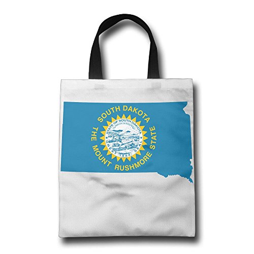 South Dakota Lightweight Foldable Tote Eco Grab Bag Shopping Bag Tote - Washington Mall Hill South