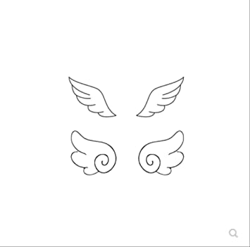 LNNHJB Los pequeños ala del Tatuaje pegan la Mujer Fresca Duradera ...