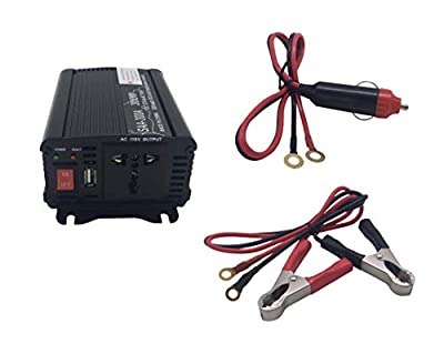 SunPower 300W Power Inverter DC 12V to 110V AC Car Inverter with 4.2A USB Car Adapter