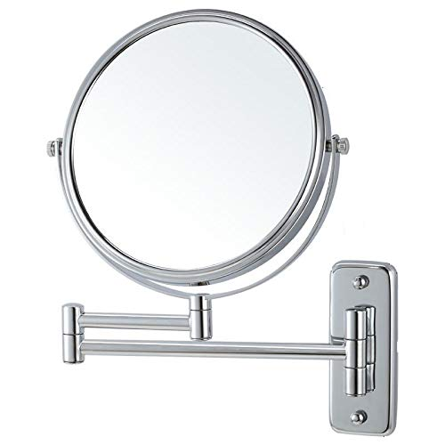 Lansi Makeup Mirror 10X Magnifying Wall Mount Double-Sided Vanity Decoration, Round, 8 - Up Bathroom Mirrors A Plain Dress