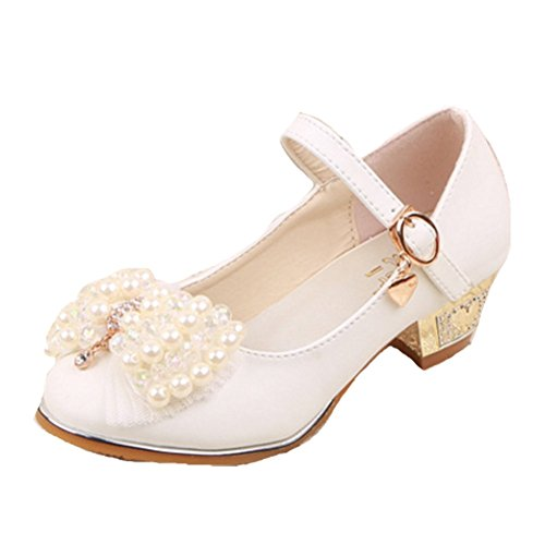 OPSUN Mädchen Sandalen Prinzessin Kinderschuhe Sandalen Sandaletten Kleinkinder Halbschuhe Sandalette Ballerinas Weiß