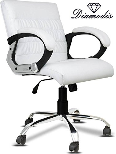 Diamodis New Jersey Leatherette Office Chair Mid Back