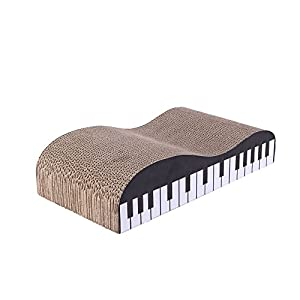 Olymstore Cat Scratcher Lounge with Catnip,Corrugated Kitty Scratch Cardboard Couch Scratching Pad Bed Claws Toy