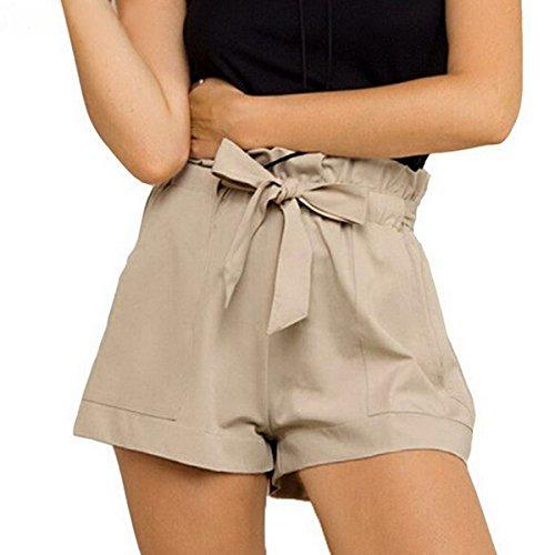 Women : Pleated Shorts Khaki - 6