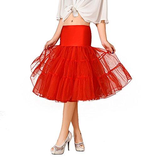 - OCTOPUSIR Women's Underskirt 50s Petticoat Skirts Tutu Crinoline Net Voile Underskirts Dresses Half Slips