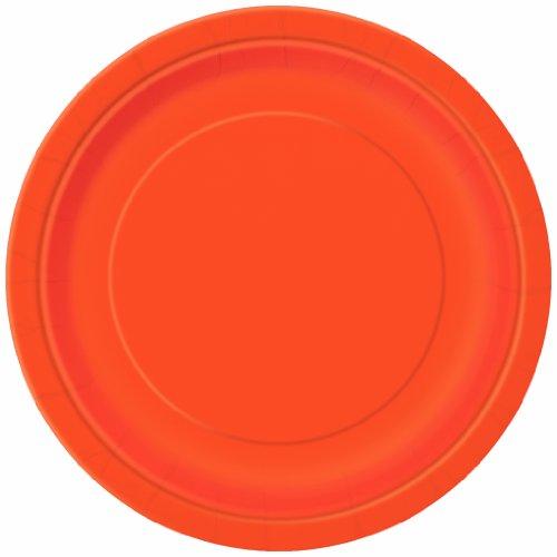 Orange Paper Plates, 8ct
