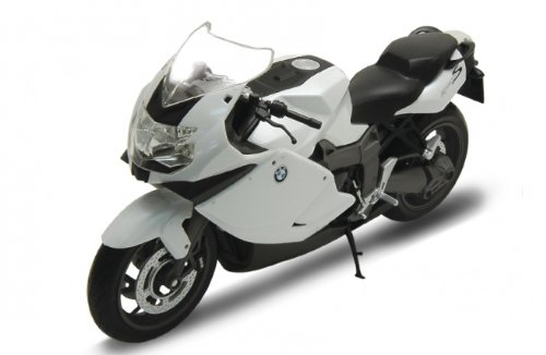 Welly BMW K1300S Motorcycle 1/10 Scale Diecast Model White from Welly