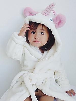 BELIFECOS Flannel Unicorn Unisex Parent-Child Bathrobe Kids Cosplay Costume Onesie Pajamas