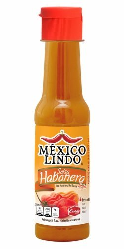 Castillo (Mexico Lindo) Salsa Habañera Red, 5-ounce Bottle (Pack of -