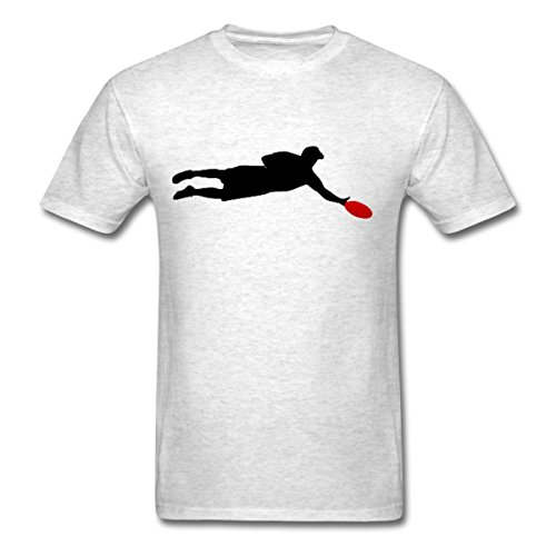 Frisbee Player (Spreadshirt Ultimate Frisbee Player Silhouette Men's T-Shirt, M, light heather grey)