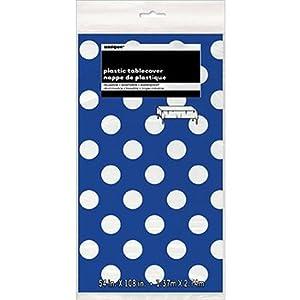 Einzigartige Industries Royal Blau Deko Dots Kunststoff Tischdecke, 137,2x...