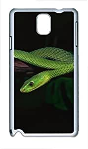 2013 Green Snake Desktop Polycarbonate Hard Case Cover for Samsung Galaxy Note III/ Note 3 / N9000 White